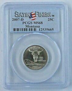 2007-D Montana State Quarter - Satin Finish - PCGS MS 68