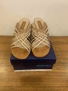 Esino Brown Heeled Open Toed Sandals - UK Ladies Size 6