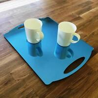"""Rectangle Flat Serving Tray - Blue Mirror Acrylic, 3mm Thick 30x40cm 12""""x16"""""""