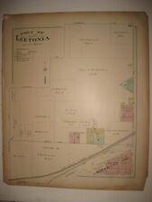 ANTIQUE 1902 LEETONIA COLUMBIANA COUNTY OHIO HANDCOLORED MAP RAILROAD RARE FINE