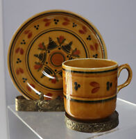 Vintage Ridgways Demitasse Cup & Saucer England Bedford ware Hand Painted