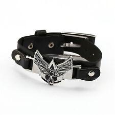 Assassin's Creed PU Leather Bracelet Punk Rivet Belt Buckle Bangle Collection