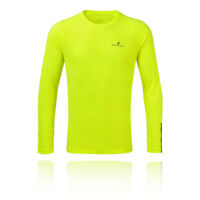 RonHill Mens Stride Long Sleeve Top - Yellow Sports Running Breathable