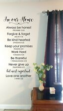 In Our Home Christian Values Wall Sticker Vinyl Decal Wall Lettering Quotes