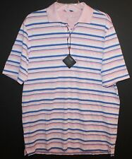 Bobby Jones Golf Mens Pink Blue Striped X-H20 Performance Polo Shirt NWT $89 M