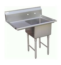 1 Compartment Prep Sink 15x15 With 1 Left Drainboard
