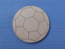 4cm Wooden Football Gift Tag Nursery Plain Blank Embellishment Craft Shape pk 10