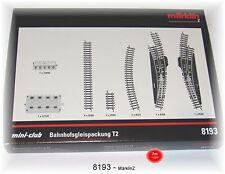 Märklin 8193 Lot de voies ferrées de gare T2 #neuf emballage d'origine#