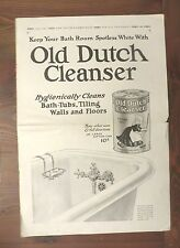 "Print Ad OLD DUTCH CLEANSER Youth's Companion 1911 15"" x 11"" Full page Bathtub"