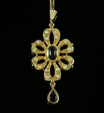 OPAL MOONSTONE AMETHYST PENDANT AND NECKLACE
