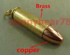 Solid brasscopper Bullet shaped cigarette oil lighter with flints