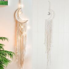 Moon Macrame Dream Catcher Wall Hanging Tapestry Woven Nursery Craft Tassel Gift