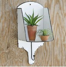 New! Rustic Farmhouse Country Wall Sconce Shelf with Hook Home Decor