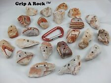 "20 Rock Climbing Wall Hand Holds, Rock Climbing Hand Holds 2"" to 3"" ""Jib/Crimp�"