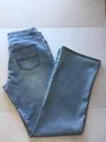 cAbi Women Size 10 Jeans Light Wash Denim Pants Straight Leg Style 895
