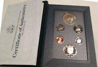 1990 Prestige Proof Set Eisenhower Silver Dollar U.S. Mint 6 Coin COA