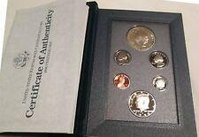 1990 S U.S. Mint Prestige Proof Set COA Box Eisenhower Silver Dollar 90 Proof