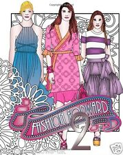 Fashion Forward 2 Adult Colouring Book Clothes Outfits Model Catwalk Stocking