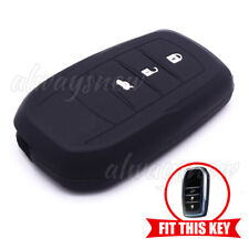 Silicone Remote Key Cover Case for Toyota Highlander Camry Corolla Smart  Black