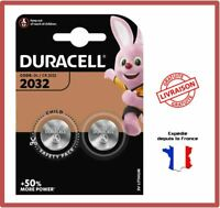 2 Piles CR2032 DURACELL Bouton Lithium 3V DL2032 DLC 2029