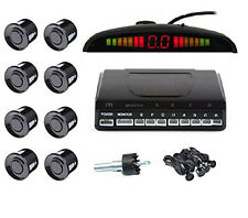 8 Sensors Alarm System LCD Display Front And Rear View Parking Aid Black Color