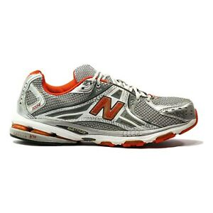 New Balance MR1224ST Mens Sz 11.5 2E Silver Gray Orange Stability Running Shoes