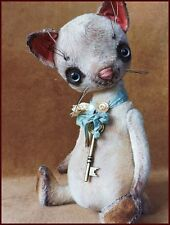 Alla Bears artist Old art doll OOAK cat decor Japanese Anime pet