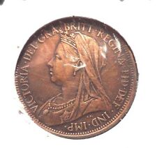 CIRCULATED 1899 BETTER GRADE 1/2 PENNY UK COIN! (41615)
