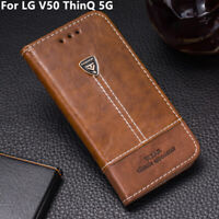 Case Cover For LG V50 ThinQ 5G Magnetic Flip Leather Wallet Stand Holder 6.4''
