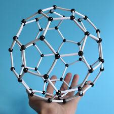 DIY Scientific Atom Models Set, Football Buckyballs, Neocube Molecular, (White)