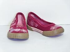 Stride Rite Alysia Pink Suede Heart Shoes Altered Mary Janes Girl's 5 M VGC