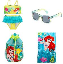 ✨NEW✨ Disney's ARIEL 2 Piece Swimsuit, Towel, Sunglasses, Backpack Size: 5/6