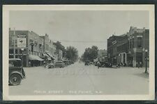 Sharp SD Elk Point RPPC '38 MAIN STREET Busy CARS Ice Cream Sign BEER DRUG STORE