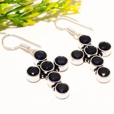 "Fashion Jewelry Earring 1.97"" Se-1783 Black Onyx Gemstone Handmade Ethnic"