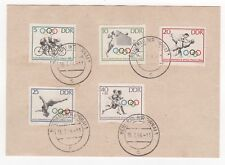 1964 GERMANY First Day Cover HEIDENAU Tokyo Olympic Issues SGE754 to SGE758 DDR