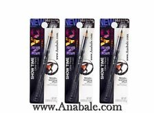 (Lot of 3) New York Color Glitter Pencil, Show Time Black 944