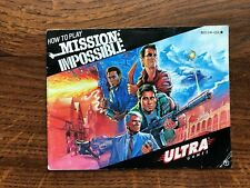 Mission Impossible NES Nintendo Instruction Manual Only