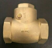 "1"" Inch Brass Swing Check Valve IPS NPT Threaded Plumbing Fitting 300WOG"