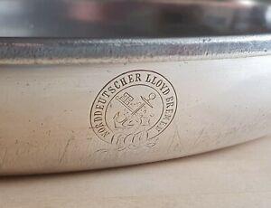 Norddeutscher Lloyd Bremen Hotelsilber Schale Servierplatte Brotkorb Wilkens NDL