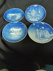 4 Bing and Grohndahl Denmark Christmas Plates 1982 to 1985 excellent condition