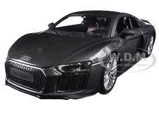 AUDI R8 V10 PLUS GREY SPECIAL EDITION 1/24 DIECAST MODEL CAR BY MAISTO 31513