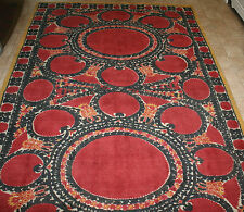 POTTERY BARN ASA SUZANI PRINTED RUG - RED - 5' X 8'