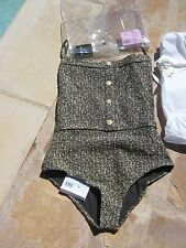NWT authentic CHANEL one-piece tweed swimsuit F40 2016- gorgeous! SOLD OUT