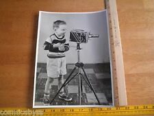 1960's Child director behind movie camera 8x11 photo ORIGINAL Cine-Kodak special