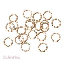 100 x 7mm Rose Gold Jump Rings - Iron Open - 0.9 Thick Hoops - Links