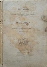 Memoria del Prof. Comm. Michel-Giuseppe Canale