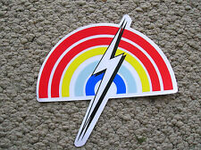 lightning bolt surfboard surfing surfer sticker decal surf gerry lopez rainbow