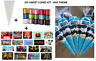 10 x PERSONALISED DIY SWEET CONES KIT PARTY BAG LOOT BAG - THANK YOU - THEME L