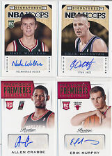2013-14 Basketball AUTO Lot 4pc - OSTERTAG, CRABBE, MURPHY & WOLTERS