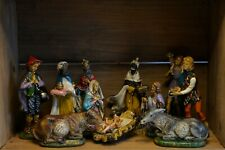 More details for antique collection of composite nativity figures made in italy